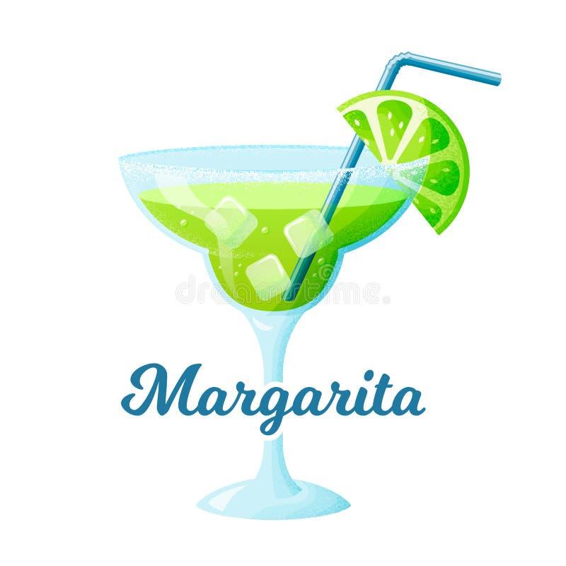 C?ctel de Margarita con la cal Ilustraci?n del vector ilustración del vector