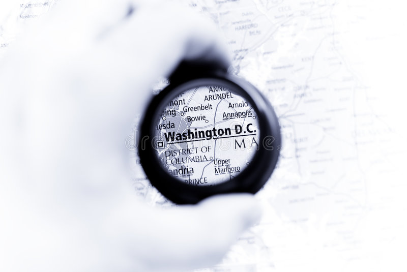 c d映射华盛顿 免版税库存图片