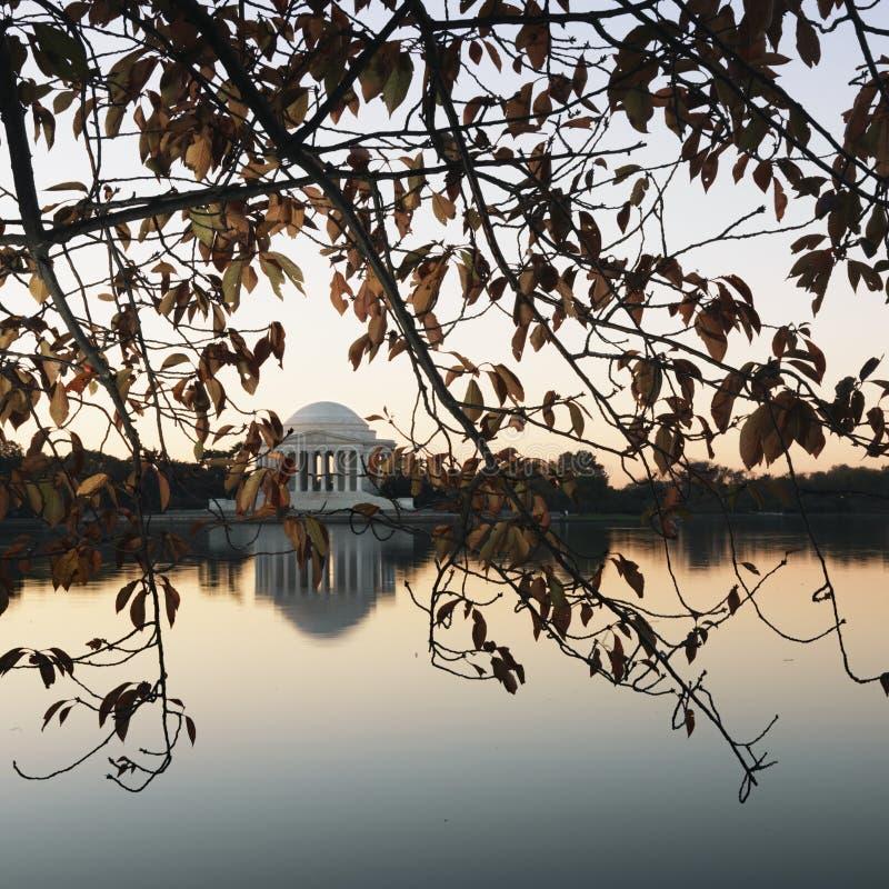 c d杰斐逊纪念美国华盛顿 库存图片