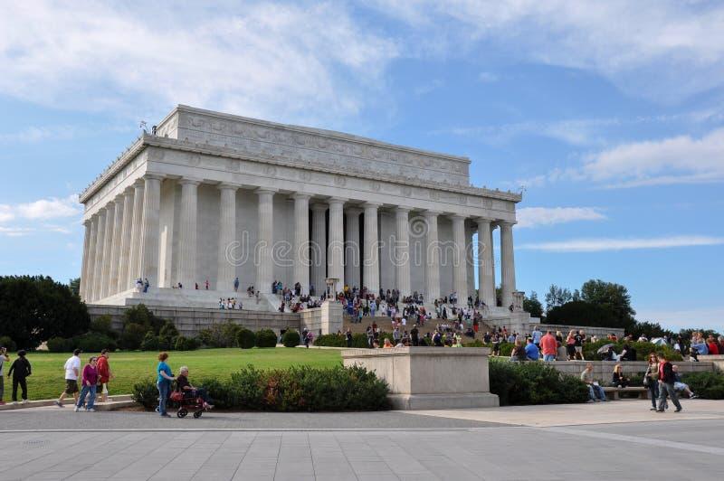 c d Lincoln pomnik Washington C , USA obrazy royalty free