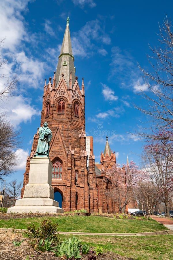 C.C. de Luther Place Memorial Church Washington imagem de stock royalty free