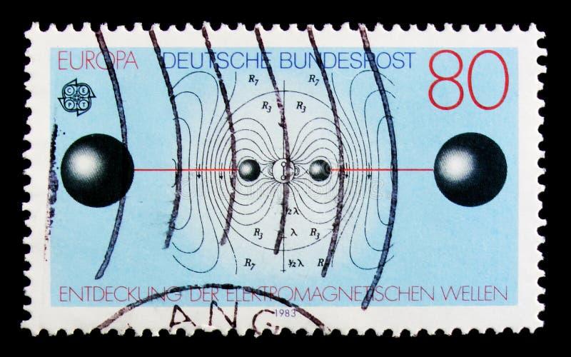 C E P T - Impianti di grande e risultati del serie di mente umana, circa 1983 immagine stock libera da diritti