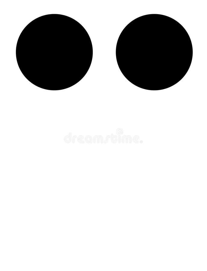 C em braille ilustração do vetor