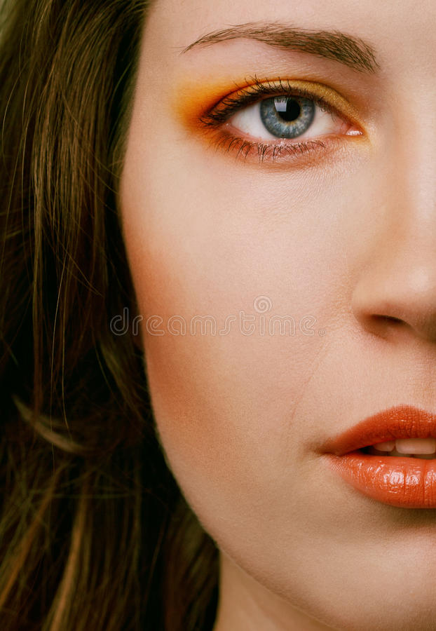 Yeux lumineux images stock