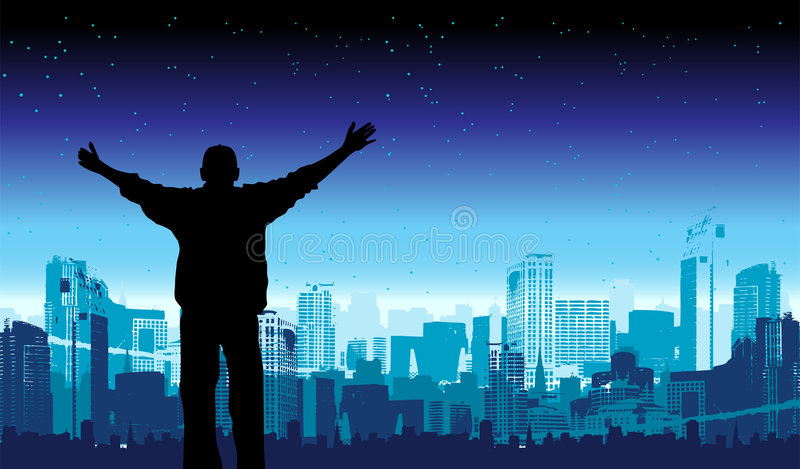 C'est ma ville, illustration de vecteur pour votre conception illustration de vecteur