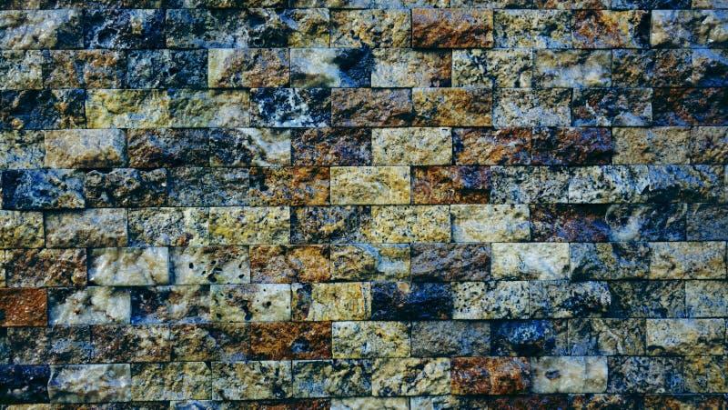 C'est mur de briques coloré lumineux moderne horizontal pour le modèle et le fond photo libre de droits