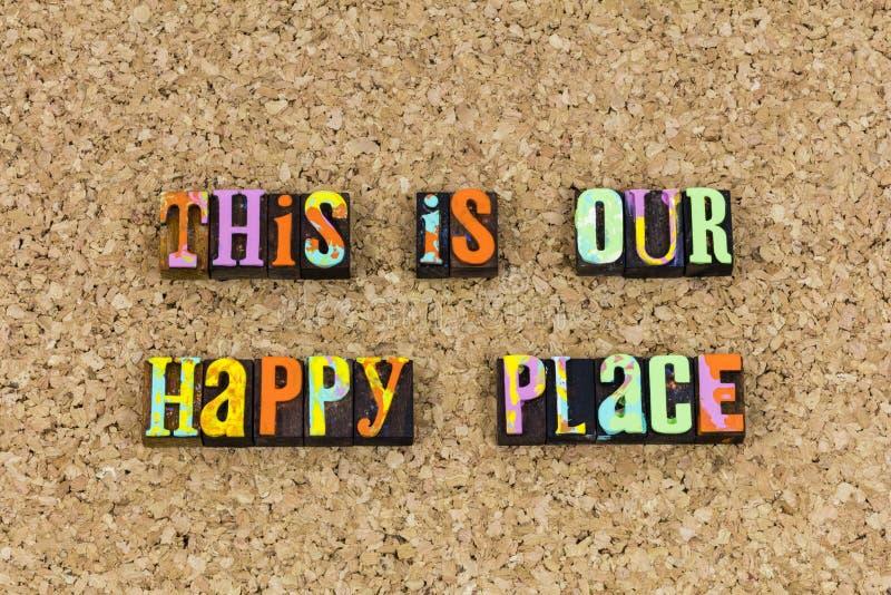 C'est notre endroit heureux ensemble images libres de droits