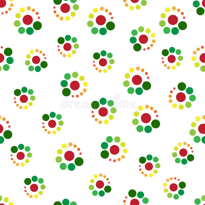 C'est un beau, sans couture modèle des cercles verts et bruns géométriques sur le fond blanc photos stock