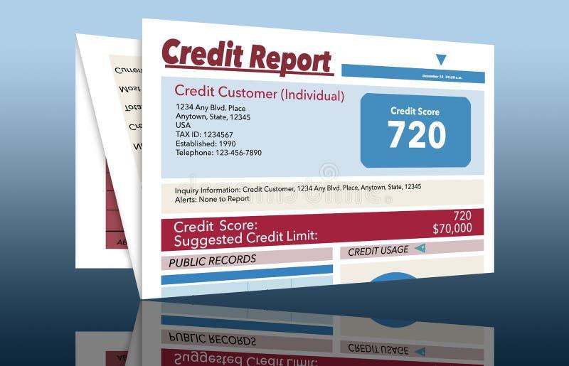 C'est un générique, faux, rapport de crédit illustration de vecteur