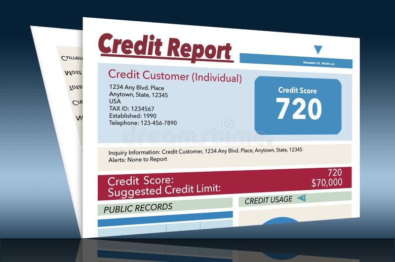 C'est un générique, faux, rapport de crédit illustration libre de droits