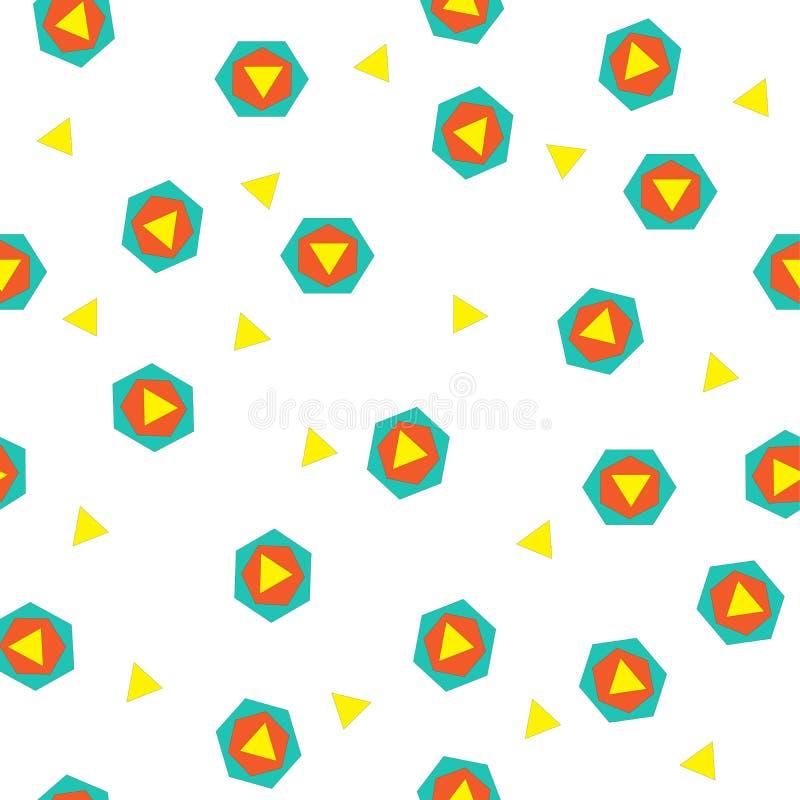 C'est un modèle merveilleux et géométrique des triangles et des hexagones photo stock