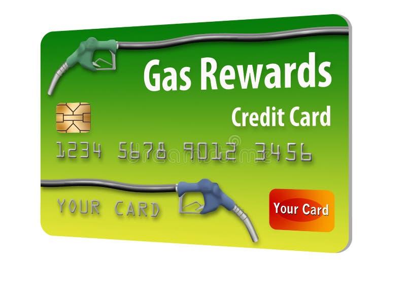 C'est une carte de crédit générique de récompenses d'essence illustration libre de droits
