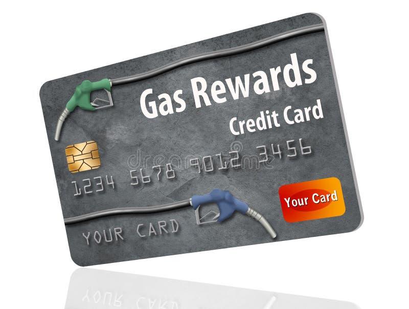 C'est une carte de crédit générique de récompenses d'essence illustration stock