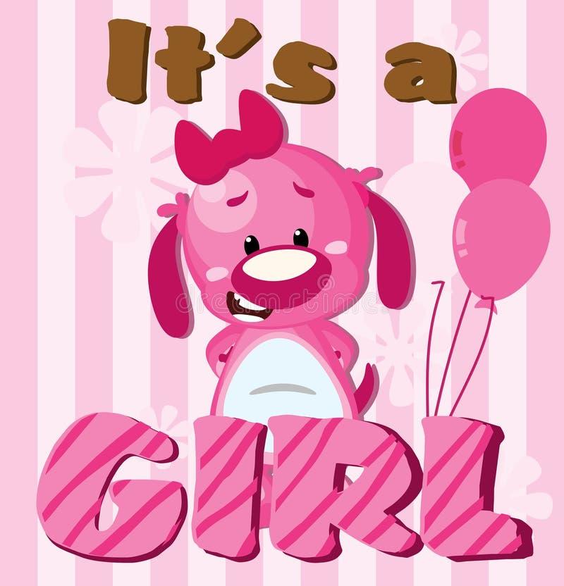 C'est une fille ! illustration libre de droits