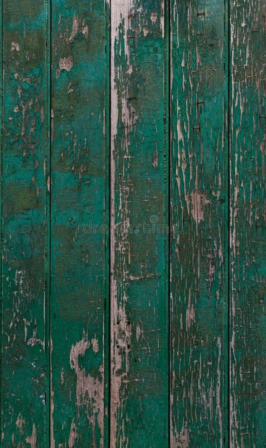 Vieille Texture Verte De Peinture Sur Une Trappe En Bois Photo Stock