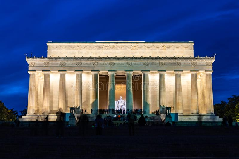 C.C. EUA de Lincoln Memorial Washington fotografia de stock royalty free