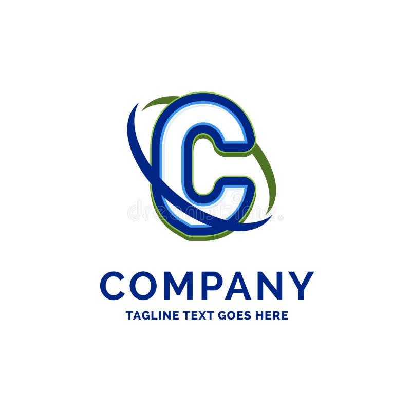 C Företag namndesign Logomall Märkesnamnmallställe royaltyfri illustrationer