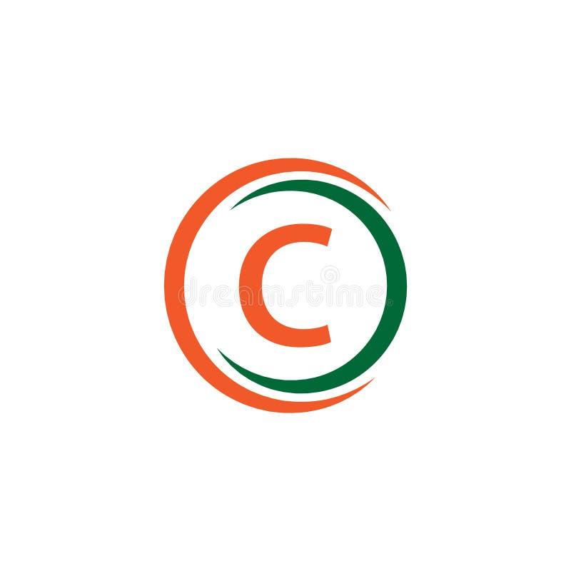 C Firma logo szablonu projekta Wektorowa ilustracja ilustracja wektor