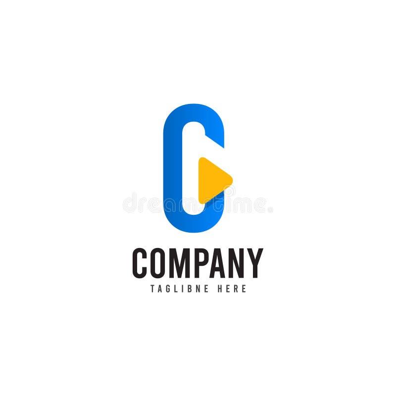 C Firma logo szablonu projekta Wektorowa ilustracja royalty ilustracja