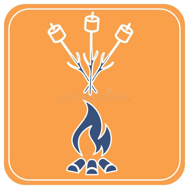 C?firo en icono del pincho stock de ilustración