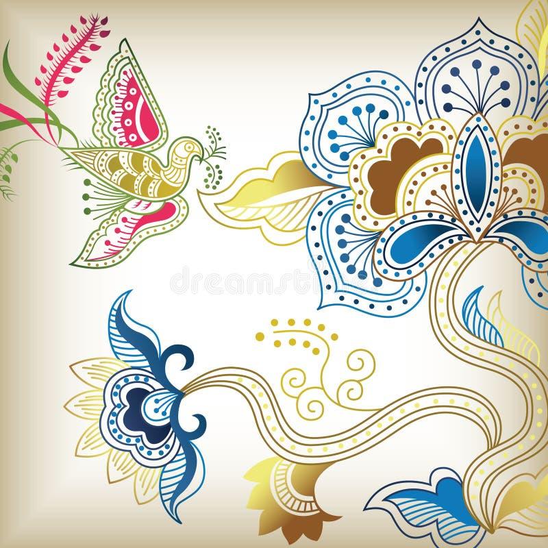 C floral abstrato ilustração stock