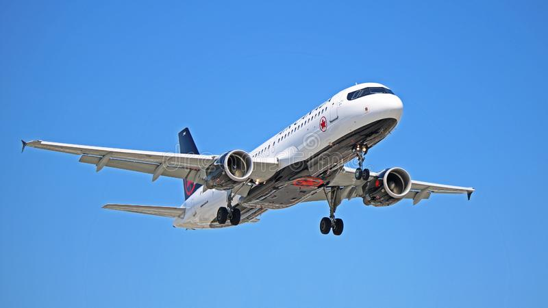 C-FZQS Air Canada-Luchtbus A320-200 op Definitieve Benadering stock foto's