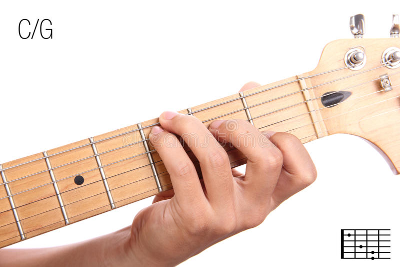 Cg Guitar Chord Tutorial Stock Image Image Of Minor 94020799