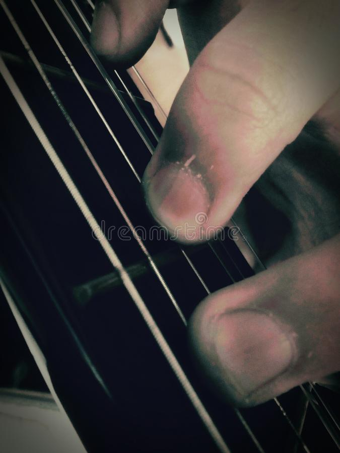 C in Guitar royalty free stock images