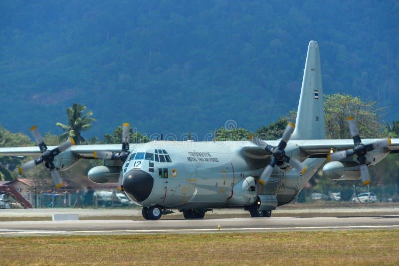 C-130H Hercules Royal Thai Air Force fotografia stock libera da diritti