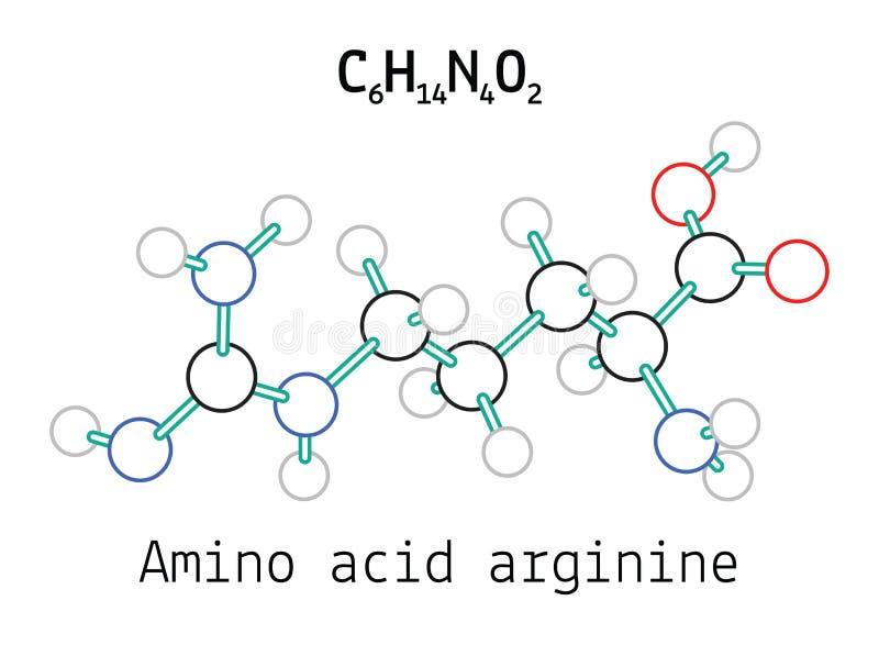 C6H14N4O2 amino acid Arginine molecule stock illustration