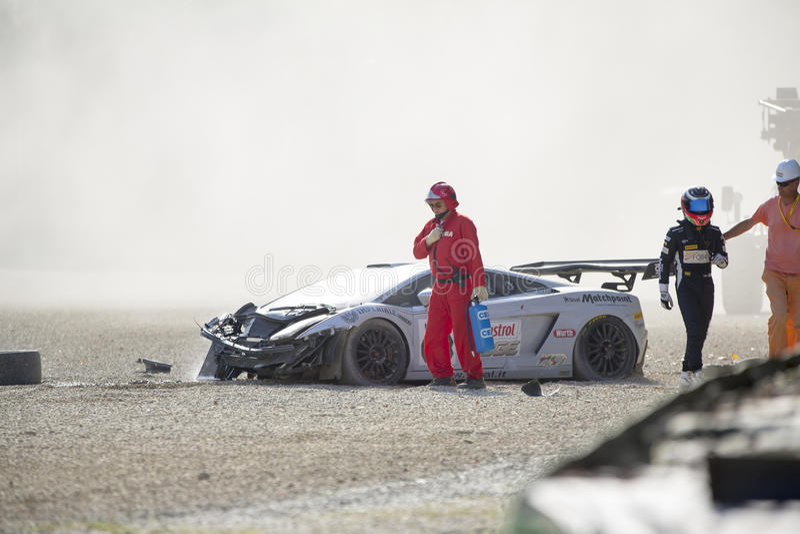 C I Carreras de coches de Gran Turismo fotos de archivo