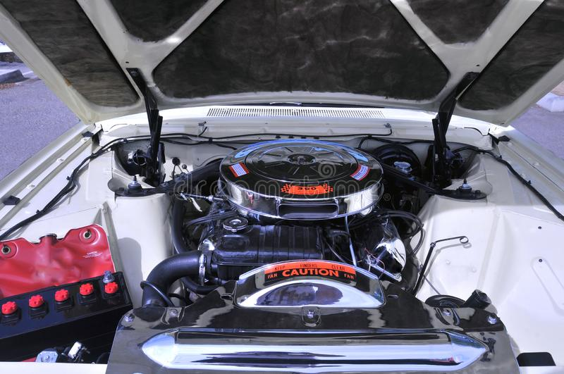 390 C.I. V-8 Engine For 1962 Ford Thunderbird. This big block high performance engine powered the second generation Ford Thunderbird which morphed from a two royalty free stock image