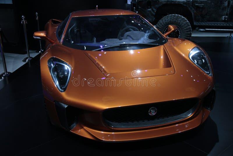 c-jaguar x75 royaltyfri foto