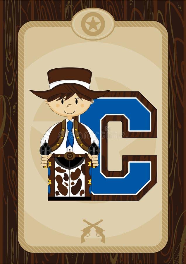 C jest dla kowboja royalty ilustracja
