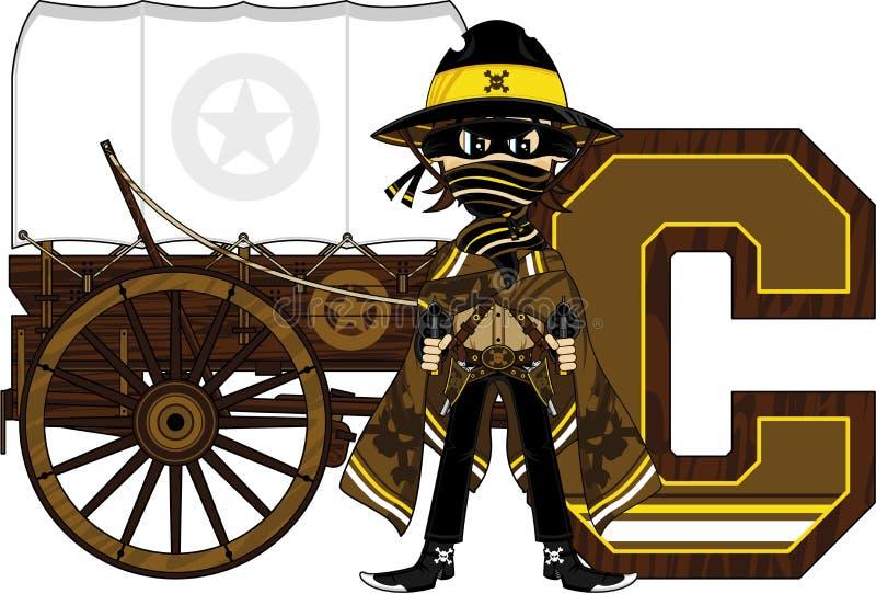 C jest dla kowboja ilustracja wektor