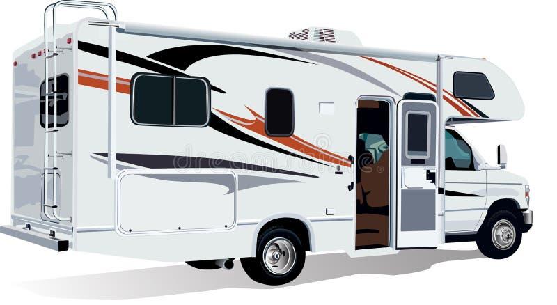 RV C-Klassificerar camparesläpet royaltyfri illustrationer