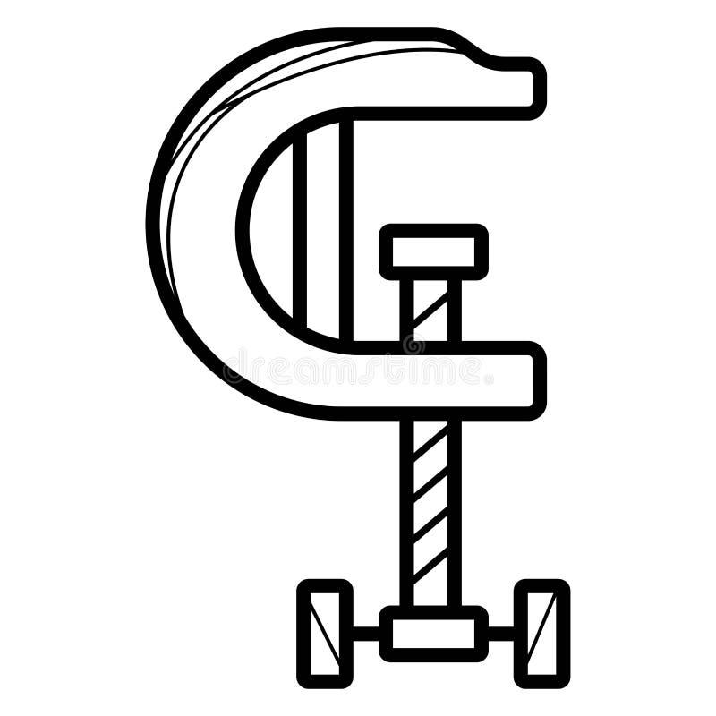 C-klem pictogramvector vector illustratie