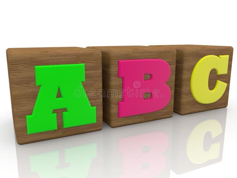 A C-Konzept für Spielzeugwürfel stock abbildung