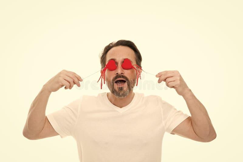 C?l?brez le jour de valentines Amour et concept romantique de sentiments Attribut de coeur de valentine Pr?sent de cadeau de coeu photographie stock