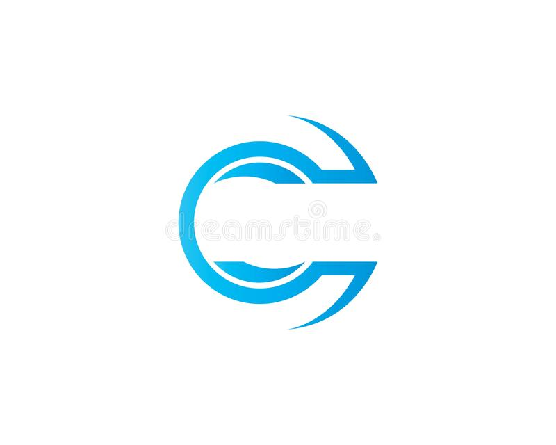 C Letter Logo Template. Vector icon design stock illustration