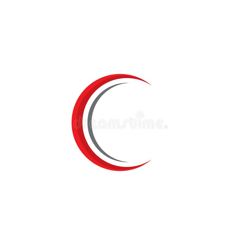 C Letter Logo Template royalty free illustration