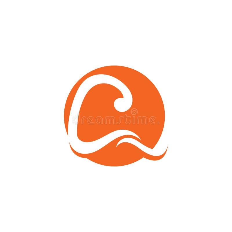 C Letter Logo Template royalty free illustration