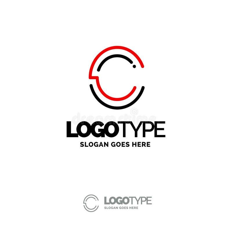C Logo Digital Logo Template Calibre noir et rouge de logo, technologie illustration libre de droits