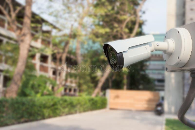 C?mara CCTV al aire libre de la seguridad foto de archivo