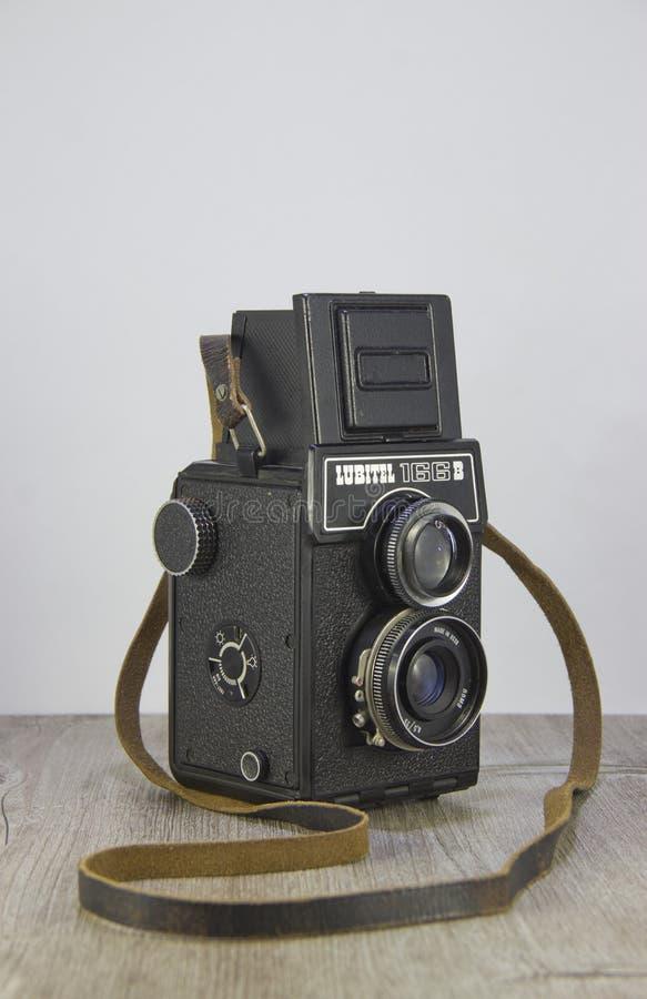 C?mara Lubitel166B del vintage fotografía de archivo libre de regalías