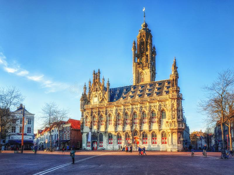 C?mara municipal de Middelburg foto de stock