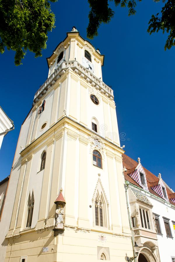 C?mara municipal velha, Bratislava, Slovakia imagem de stock royalty free