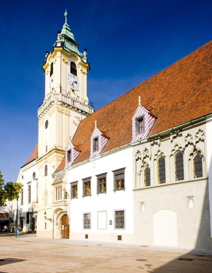C?mara municipal velha, Bratislava, Slovakia foto de stock royalty free