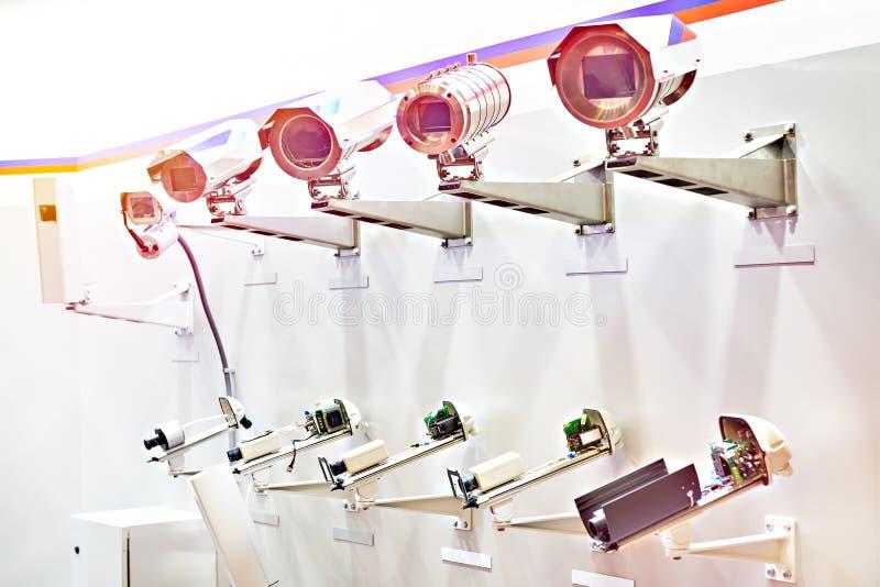 C?maras CCTV con la cubierta terma foto de archivo