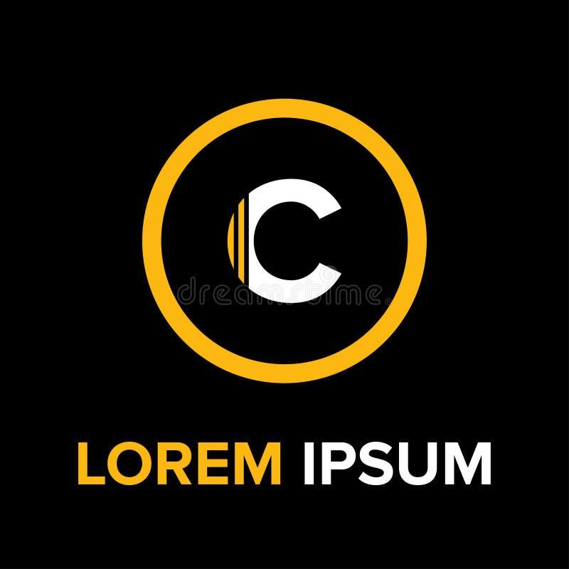 C marque avec des lettres le logo pour des affaires photographie stock libre de droits